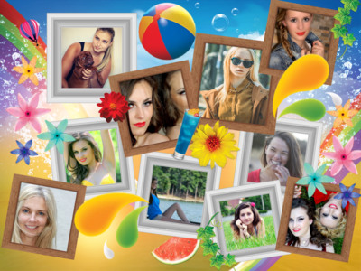 Photo collage design featured photovisi for Collage foto online gratis italiano