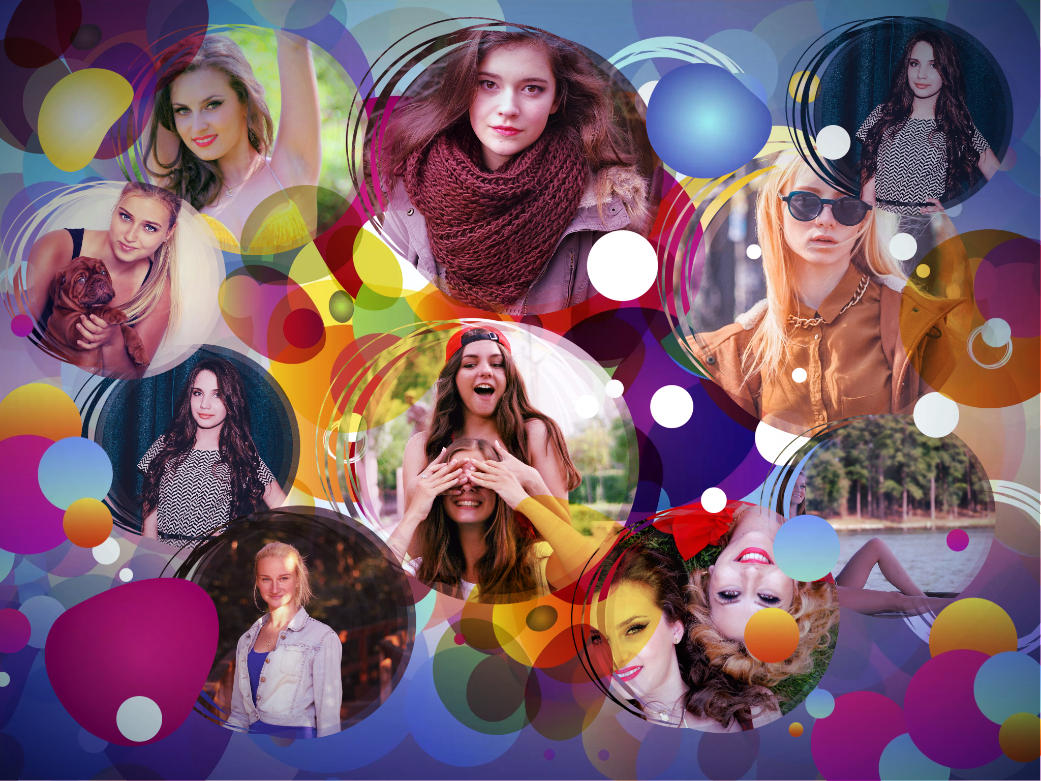 Color blobs collage abstract photovisi for Collage foto online gratis italiano